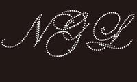 NGL (cursive) - Custom Rhinestone Transfer