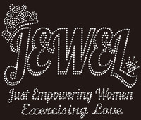 Jewel Just Empowering Women Custom Rhinestone Transfer