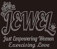 Jewel Just Empowering Women Custom Rhinestone Transfer