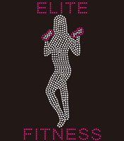 Elite Fitness Girl Custom Rhinestone Transfer
