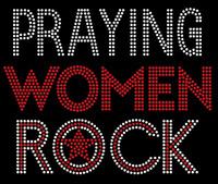 Praying Women Rock Custom Rhinestone Transfer