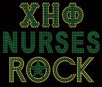 XHO Nurses Rock Custom Rhinestone Transfer