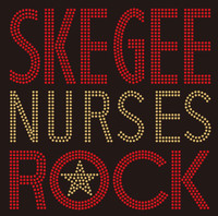 SKEGEE Nurses Rock Custom Rhinestone Transfer