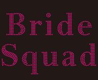 Bride Squad (Fuchsia) Wedding Marriage Rhinestone Transfer