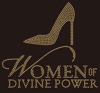 Women of Divine Power Heel (golden) - Custom Rhinestone Transfer