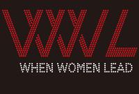 (25 Qty) WWL When Women Lead - Custom Rhinestone Transfer