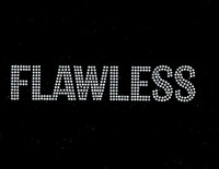 Flawless Text Rhinestone Transfer