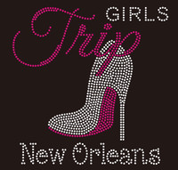 Girl Trip New Orleans Heel - Custom Rhinestone Transfer