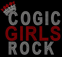 COGIC Girls Rock - Custom Rhinestone Transfer