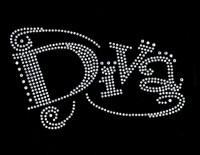 Diva (Text) Clear Rhinestone Transfer Iron on
