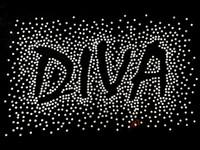 Diva Spray CLEAR Rhinestone Transfer Iron on
