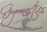 Gymnastics girl Rhinestone Transfer Iron on