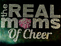 Real Moms of Cheer Rhinestone Transfer Iron on