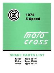 1974 CZ Spare Parts Manual