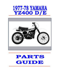 1977-78 Yamaha YZ400 D/E Parts Manual
