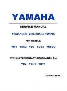 yamaha 250 305 twins yds3 ym1 yds service manual bear motorsports rh bear sports com I&T Shop Manuals WF328AAW XAA Service Manual