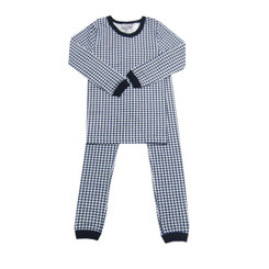 Coccoli Kids Navy and White Check Long Pyjamas