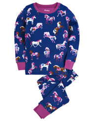 Hatley Flower Horses Allover Print Long Pyjamas size 2 only