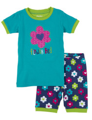 Hatley Flower Hearts Short Pyjamas Set