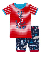 vintage nautical short pj set. Made from 100% organic cotton.