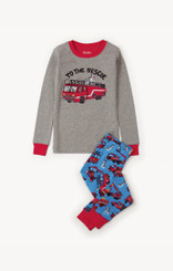 Hatley Fire Trucks Appliqué Organic Cotton Pyjama Set