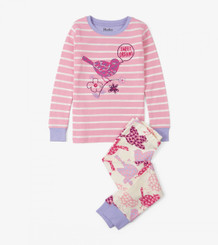 Hatley Birds Of A Feather Appliqué Organic Cotton Pyjama Set