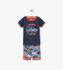 Hatley Rush Hour Applique Short PJ Set
