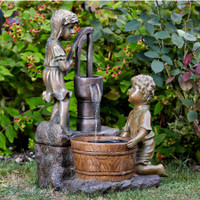 Boy & Girl Water Water Pump