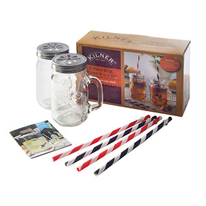 jar mugs with straws