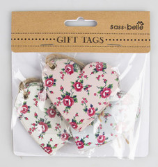 Petite Rose Heart Gift Tag Set of 15