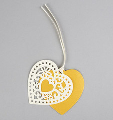 Double Heart Gift Tag Set of 10