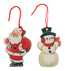Father Christmas and Snowman Gift Tags (Set of 10)