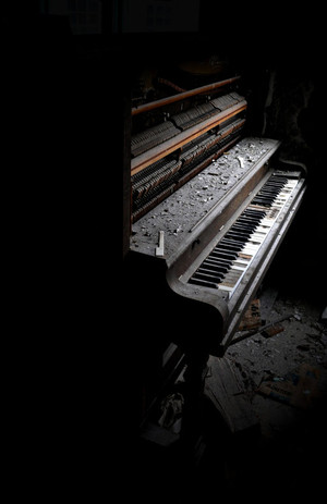 I found this piano in the old abandoned Allegany Poor Home, Angelica NY. I was taken by the beauty and lightning.
