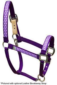 Purple Polka Equine Elite Halter