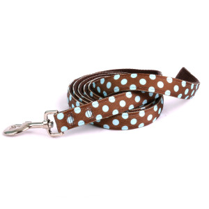 Blue Brown Polka Equine Elite Horse Lead