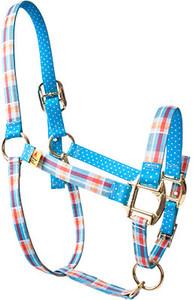 Madras Blue High Fashion Donkey Halter
