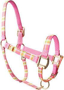 Madras Pink High Fashion Large Horse Halter