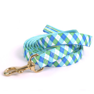 Blue & Green Argyle High Fashion Horse Lead