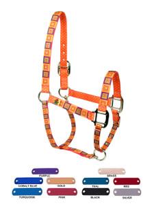 Orange Blocks Horse Neck Collar