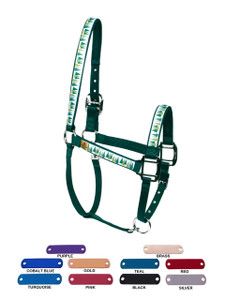 Personalized Name Plate Winter Trees Equine Elite Halter