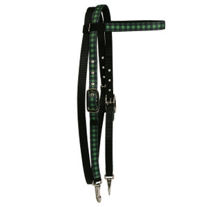 Buffalo Plaid Green Headstall