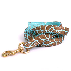 Giraffe Teal High Fashion Horse Lead