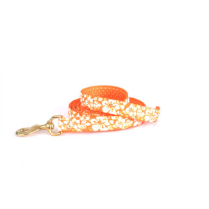 Island Floral Orange High Fashion Horse Lead