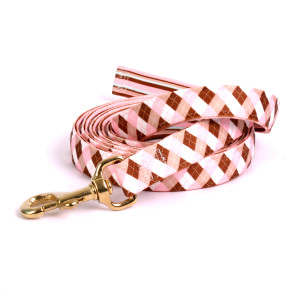 Pink/Brown Arglye High Fashion Horse Lead