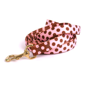Pink/Brown Polka High Fashion Horse Lead