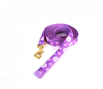 Purple Flowers High Fashion Horse Lead