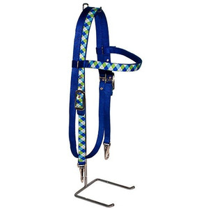 Blue & Green Argyle Headstall