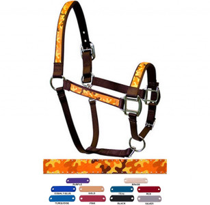 Personalized Name Plate Camo Orange Equine Elite Halter