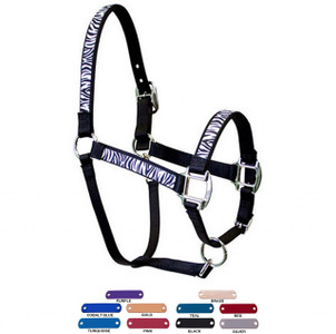 Personalized Name Plate Zebra Equine Elite Halter