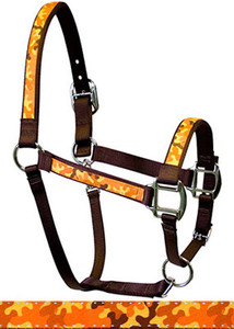 Camo Orange Equine Elite Halter